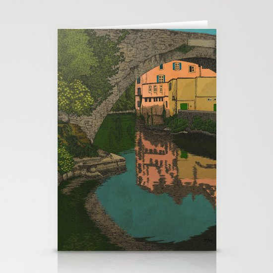 The River Stationery Card