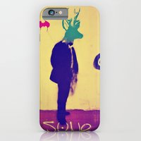 iPhone & iPod Case featuring deer-head by Li9z