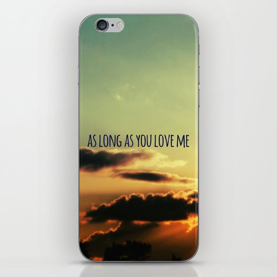 LOVE QUOTE iPhone & iPod Skin