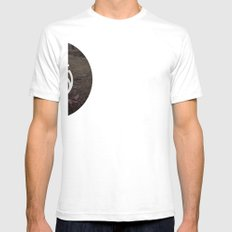 Fade Away White Mens Fitted Tee SMALL