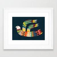 Native Bird Framed Art Print