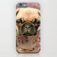 A Little Pug Of Tea iPhone 6 Slim Case