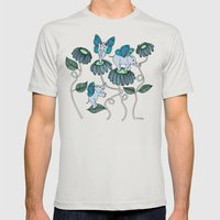 Look Out For Elephlies Mens Fitted Tee Silver SMALL
