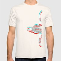 Sidewinded (Inverted) Mens Fitted Tee Natural SMALL