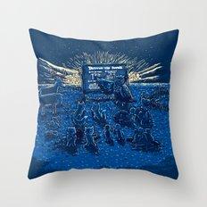Night Class Throw Pillow
