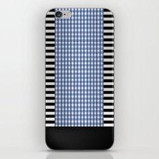 Black And Blue iPhone & iPod Skin