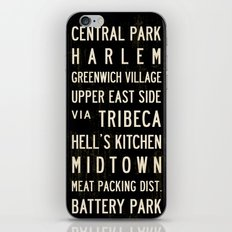 NYC Transit Sign iPhone & iPod Skin