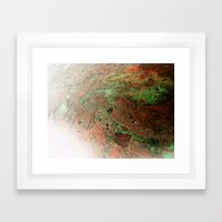 A Quick Visit To Mars! Framed Art Print