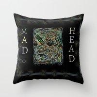 Mad Head Throw Pillow