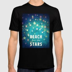 Reach For The Stars Mens Fitted Tee Black SMALL