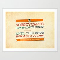 How Much You Care Art Print