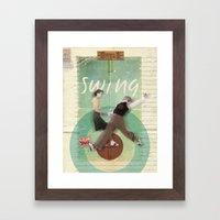 Swing Dance Framed Art Print