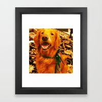 Christmas Pup Framed Art Print