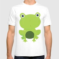 Green Frog Mens Fitted Tee White SMALL