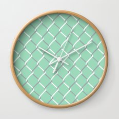 Chain Link on Mint Wall Clock