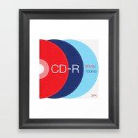 Obsolete — CD-R Framed Art Print