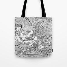 Chess Game / Original A4 Illustration / Pen & Ink Tote Bag