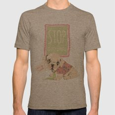 Stop abandonments! Mens Fitted Tee Tri-Coffee SMALL