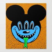 REPTILIAN MICKEYES. (Blue Face). Canvas Print