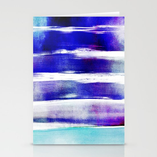 waves - indigo Stationery Card