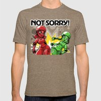 Not Sorry Roller Derby Art by RonkyTonk Mens Fitted Tee Tri-Coffee SMALL