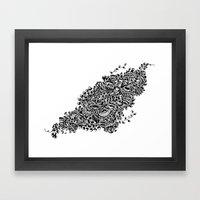 Butterflies in the Flowers Framed Art Print
