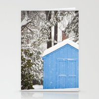 Blue Snow House  Stationery Cards