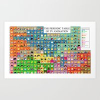 The Periodic Table of TV Animation Art Print