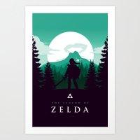 The Legend of Zelda - Green Version Art Print