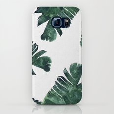 Banana Leaf Watercolor Pattern #society6 Slim Case Galaxy S7