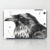 Raven Watercolor iPad Case