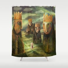 In the Company of Kings Shower Curtain