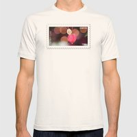 Festive Flowers Mens Fitted Tee Natural SMALL
