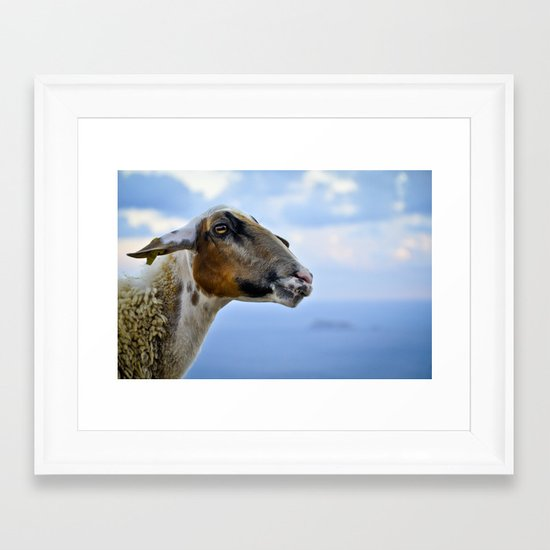 Goating Filfla Framed Art Print