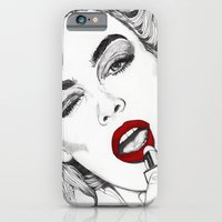 iPhone & iPod Case featuring LIPSTICK GIRL by Paul Nelson-Esch /Expeditionary Club