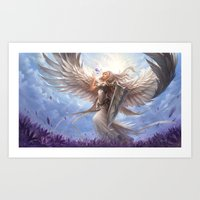 White Angel Art Print