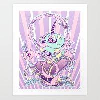 Fantasy Chameleon Art Print