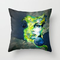 Esther Green (Set) By Ca… Throw Pillow
