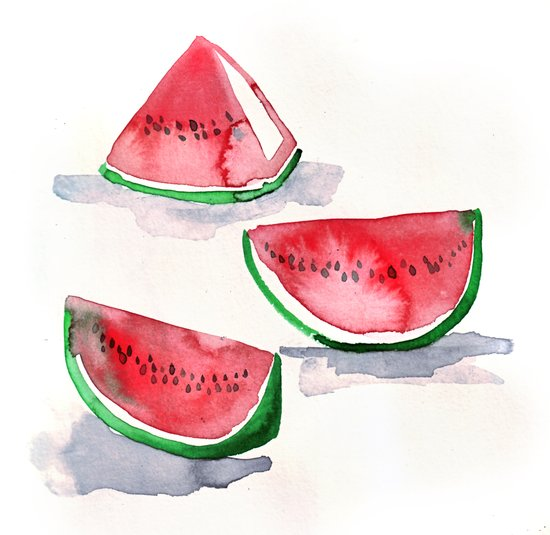 watermelon sketch Art Print