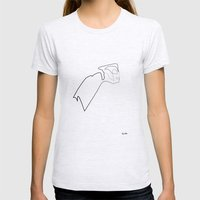 One line Rocketeer Womens Fitted Tee Ash Grey SMALL