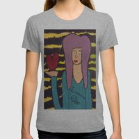 I Wear my Heart Upon my Sleeve Womens Fitted Tee Athletic Grey SMALL