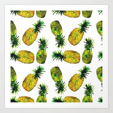 Young pineapples Art Print