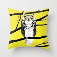 Great Owl Throw Pillow