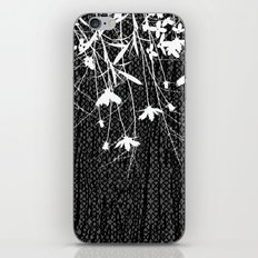 white wildflowers iPhone & iPod Skin