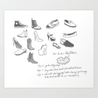 Hipsters Wear Shoes Art Print