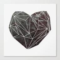 Heart Graphic 4 Canvas Print