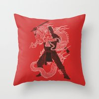 Dragon Ninja Throw Pillow