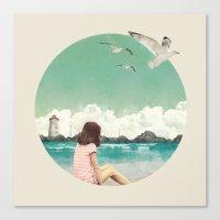 Calm ocean Canvas Print