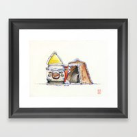 FatFat Framed Art Print
