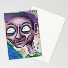 Purple, blue and green graffiti Stationery Cards